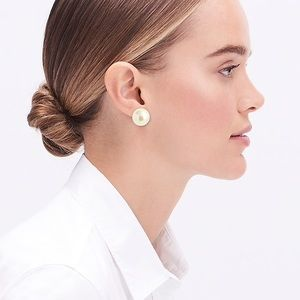 NWT J. Crew Pearl Double-Sided Stud Earrings